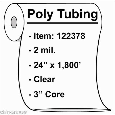 Poly Tubing Roll 24x1800 2 Mil Clear Heat Sealable Plastic Bag On Roll 122378