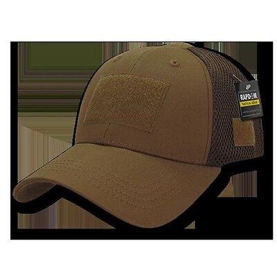 Poly Mesh Cap - Tactical Operators Ball Cap Low Crown Mesh Cotton Poly Baseball Hat Rap dom T80