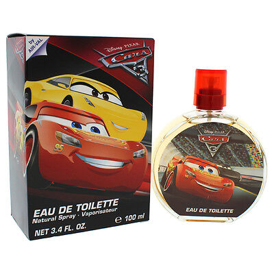 3 Pack Pixar Cars 3 by Disney for Kids - 3.4 oz EDT Spray