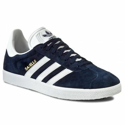 Adidas Men's Gazelle Classic Trainers Retro Footwear Shoes Sneakers Navy