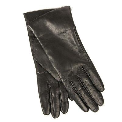 Dark Brown Italian Leather Gloves (Brand NWT DARK BROWN Sz 7.5 Portolano Cashmere Italian Leather Gloves, $170 )