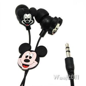 Disney-Mickey-Mouse-Headphones-Earphone-Earbuds-Headset-3-5mm-In-Ear-Mp3-Mp4-E06