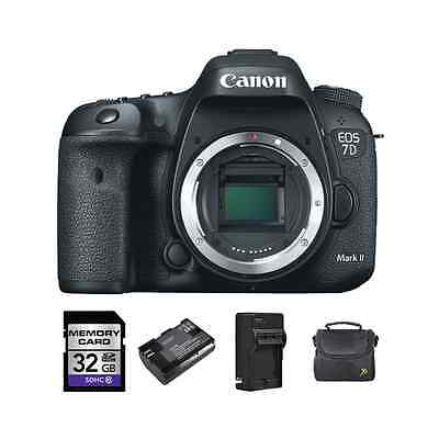 Canon EOS 7D Mark II DSLR Camera + 2 Batteries, 32GB & More