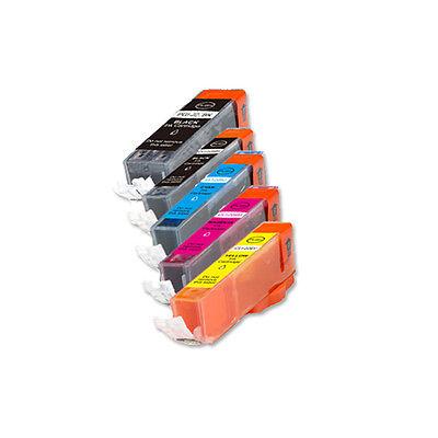 Photo Ink Set - 5 Premium Ink Set + Chip for Canon PGI-250XL CLI-251XL Photo MX722 MX922 MG6420