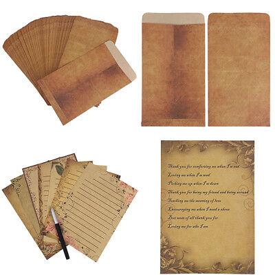 Brown Vintage Kraft Paper Envelopes Lined Writing Stationary Paper Wedding Card