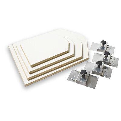 Screen Printing Platen Neck Cut Pallet Starter Kit - 4 Platens And 4 Brackets