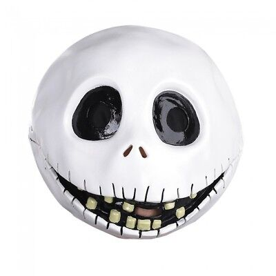 Disguise Nightmare Before Christmas Jack Skellington Adult Costume Latex Mask for sale  Staten Island