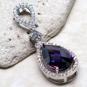 REMARKABLE 4 CT AMETHYST 925 STERLING SILVER PENDANT