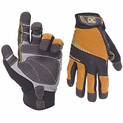 Work Gloves Custom Leather Craft Contractor Xc Flexgrip Large 20035
