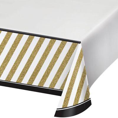 Black and Gold Plastic Banquet Tablecloth Birthday Party Decorations - Black And Gold Table Decorations