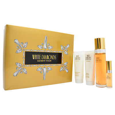 Elizabeth Taylor White Diamonds For Women   4 Pc Gift Set