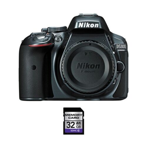 Nikon D5300 DSLR Camera (Body Only) Gray 1521