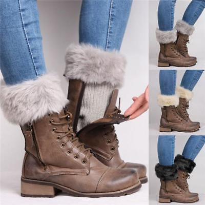 Girls Women Boot Cuff Fluffy Furry Faux Fur Leg Winter Warmers Boot Toppers Shan