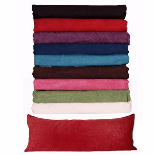 Body Pillow (( COVER )) Case Soft Micro Suede New 20″x 54″ 8 Colors AVAILABLE + Bed Pillows