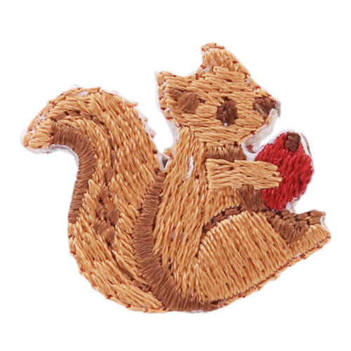 Cat Tiger Lion Sheep Squirrel Monkey Bear Sew//Iron On Patch Embroidered Applique