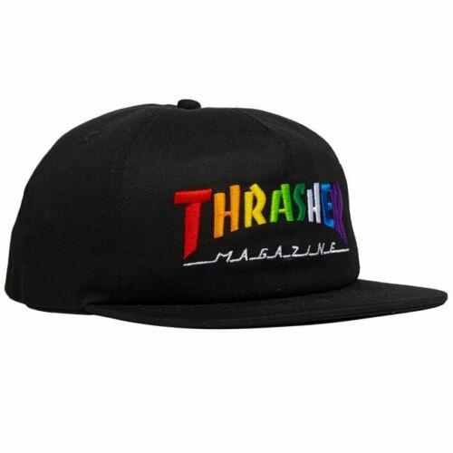 Thrasher Magazine Rainbow Mag Logo Black Snapback Hat
