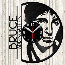 Bruce Springsteen Vinyl Record Wall Clock Decor Handmade 2219