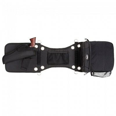 Tough-1 Saddle Bag/Gear Carrier with Gun Holster - Black  - NWT -