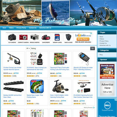 Fishing Store - Professional Designed Online Affiliate Business Website For Sale
