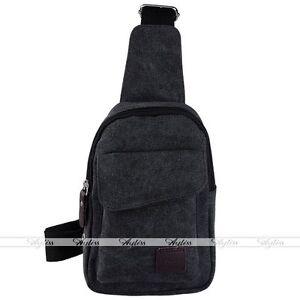 Men Canvas Sport Single Shoulder Pack Body Cross Military Bag Chest Man Satchel
