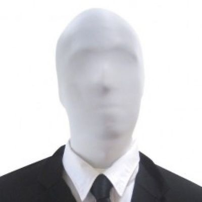 Slenderman - 2nd Skin White Face mask - Costume Accessory (White Face Mask Costume)