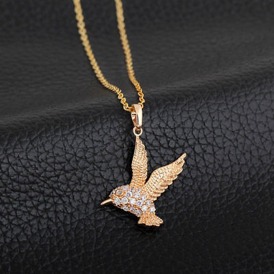 Large Bird Wing Animal Gold Plated Cubic Zircon Pendant Necklace Jewelry  Bird Pendant Gold Plated Jewelry