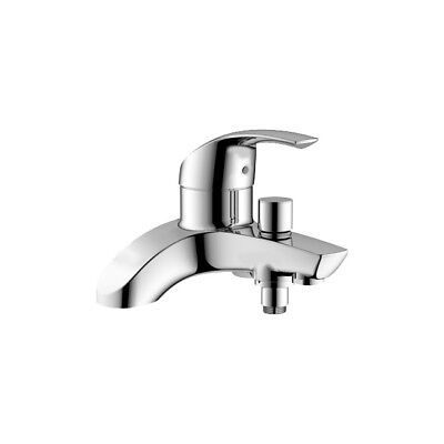 Grohe Eurosmart Bath Shower Mixer Tap Chrome Deck Mounted Single Lever (Grohe Eurosmart Single Lever Bath Shower Mixer)