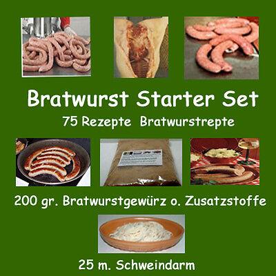 Bratwurst-Starterset-75 Rezepte-25 m Darm-Bratw.Gewürz