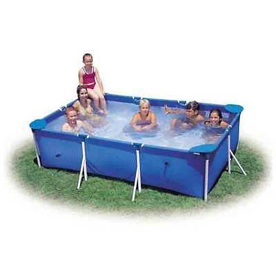 "Intex 8ft 6"" x 5ft 3"" x 25"" Rectangular Frame Swimming Pool (28271)"