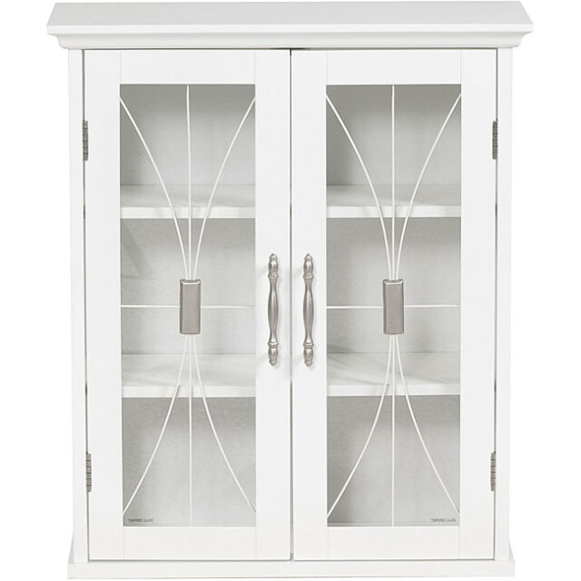 Wall Cabinet  Door Wood Glass Doors Cupboard Display Storage