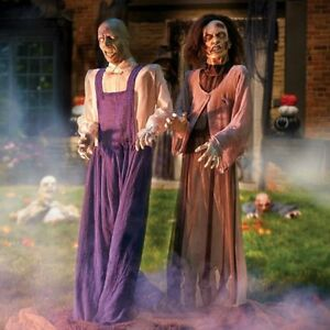 halloween props decorations zombies life size animated scary couple