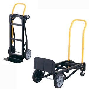 Best Hand Truck Large Moving Cart Travel Steps Appliance Dolly Foldable 400  Lb.