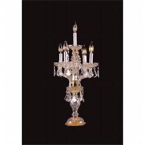 Upscale Chandelier 482105 4 1HB Crystal Candelabra Table Lamp