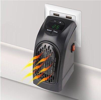 Mini Estufa Eléctrica Portátil HEATER bajo Consumo 450W Salida Tapón Regulable