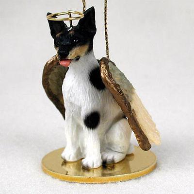Rat Terrier Dog Figurine Ornament Angel Statue Hand Painted