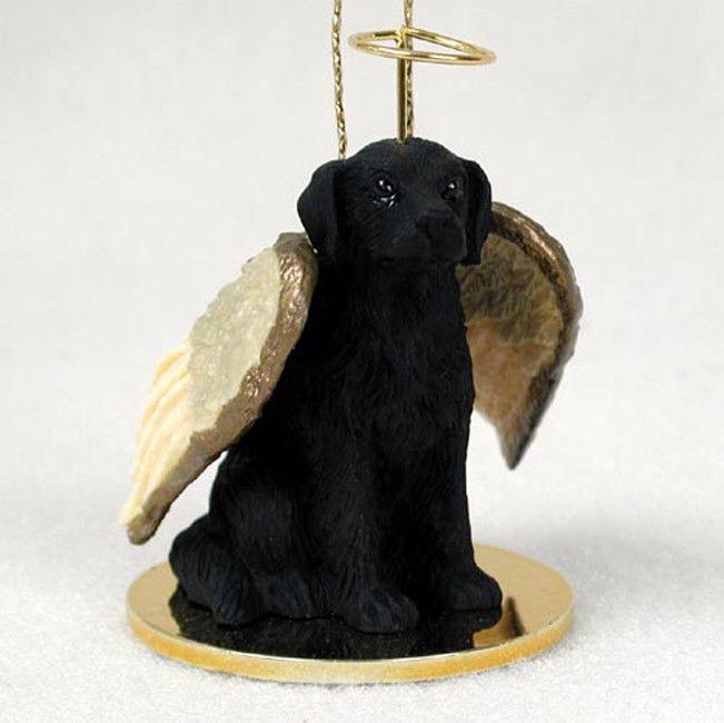 Flat Coated Retriever Ornament Angel Figurine Hand Painted