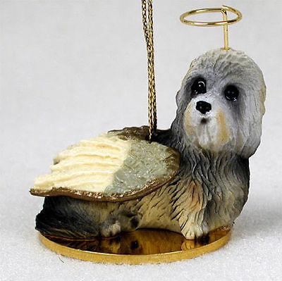 Dandie Dinmont Dog Figurine Angel Statue Hand Painted