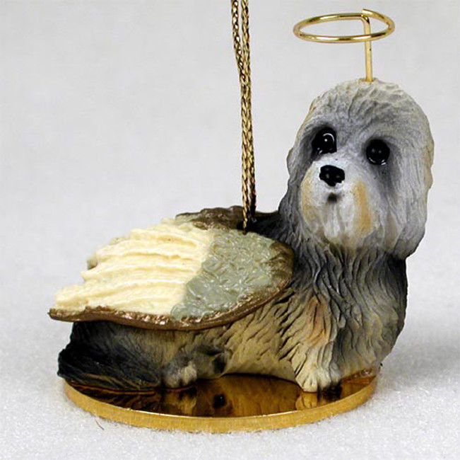 Dandie Dinmont Ornament Angel Figurine Hand Painted