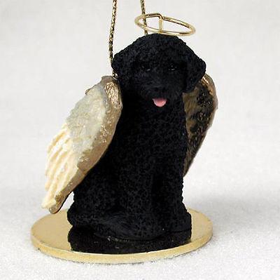 Portuguese Water Dog Dog Figurine Angel Statue Ornament