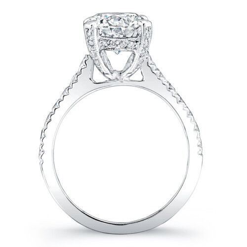 1.90Ct Asscher Cut Diamond Solitaire with Accent Ring H, VS2 (GIA) made in USA