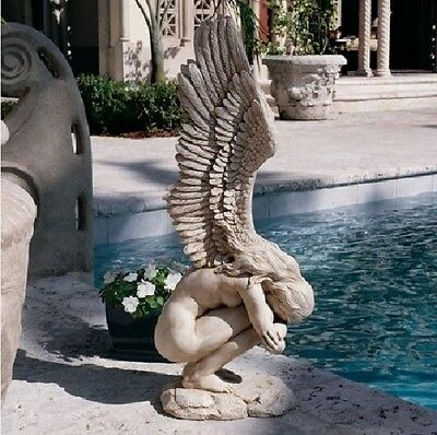 Weeping Angel Statue Sculpture Large Garden Figurine Remembrance Redemption GIFT