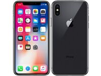 iPhone X 64Gb + extras, unlocked, black, immaculate