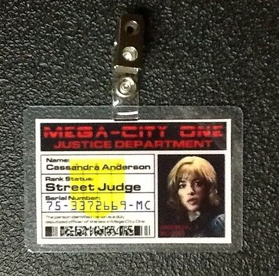 Dredd Id Badge-Street Judge Cassandra Anderson Requisite Kostüm Cosplay