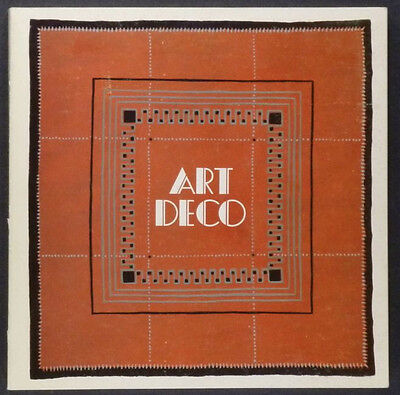Stedelijk Museum - Art Deco Antiques 1980 Exhibition Catalog -Most Uncommon