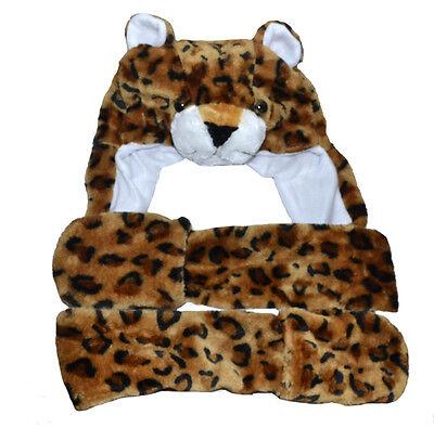Gorro de Invierno Cap para Niños Disfraz Niñas Fiesta Leopardo Kostümmütze Braun