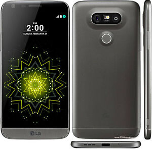 Unlocked Grey LG G5 Modular Android Phone HD with Box and Cases