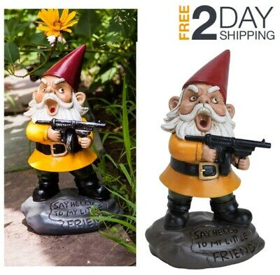 Garden Gnome Elf Statue Funny Yard Decor Lawn Art Outdoor Sculpture - Yard Decor