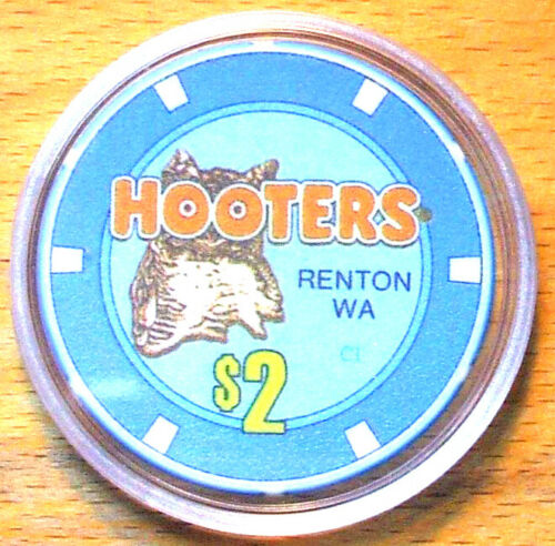 $2. Hooters Casino Chip - Renton, Washington - 2009