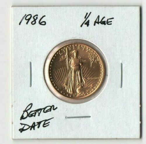 1986 1/4 oz. Gold Eagle Choice Uncirculated