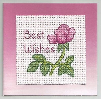Finished Cross Stitch Gift Card w/ Envelope - Best (Best Wishes Gift Cards)